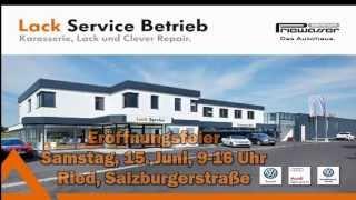 Einladung Lack Service Betrieb Autohaus Priewasser Ried Eröffnung 2013