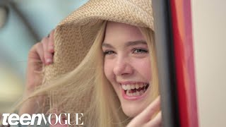 Elle Fanning Talks About Working with Angelina Jolie on 'Maleficent' – Teen Vogue's The Cover