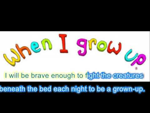 When I grow up Karaoke (with singing)