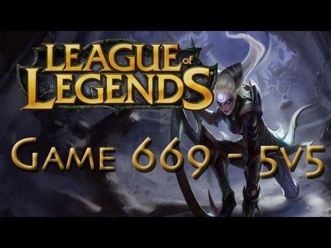 LoL Game 669 - 5v5 - Diana Pwnage - 1/2