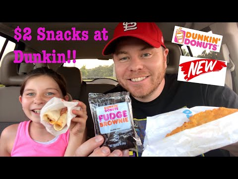 New Dunkin Donuts $2 Snacks | Ham and Cheese Rollups | Waffle Breaded Chicken | Gluten Free Brownie