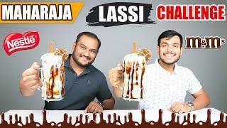MAHARAJA CHOCOLATE LASSI CHALLENGE   Food Eating Challenge   Eating Competition   Food Challenge