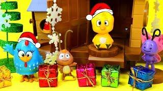 Galinha Pintadinha Presentes de Natal no Galinheiro Pintinho Amarelinho Brinquedos Surpresas