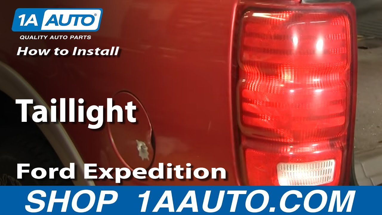hight resolution of how to install replace taillight ford expedition 97 02 1aauto com youtube