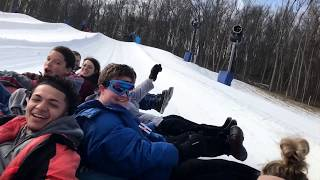 Snow Tubing Indiana -- Perfect North Slopes February 2, 2019
