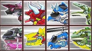 Dino Robot Corps Recolor #20: Parasauraptor & Combined Transformers | Eftsei Gaming