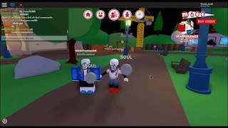 SANS AND PAPYRUS PLAY ROBLOX!!! -ROBLOX MEEP CITY-