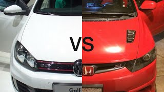 Volkswagen MK7 GTI IS20 Turbo vs Big Red Supercharged Civic