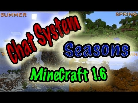 MineCraft 1.6 Snapshot 13w16a Chat System, Seasons Cycle, Horses!
