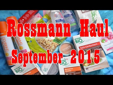 ☯ HAUL ☯ ROSSMANN ONLINE - September - CD - Alterra - Ener Bio - FOOD - Vegan - Tierversuchsfrei