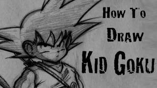 How To Draw Kid Goku