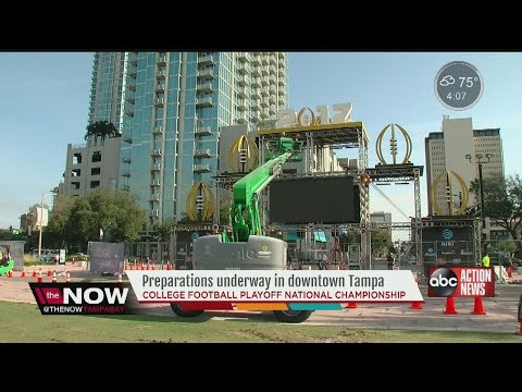 Preparations underway in downtown Tampa