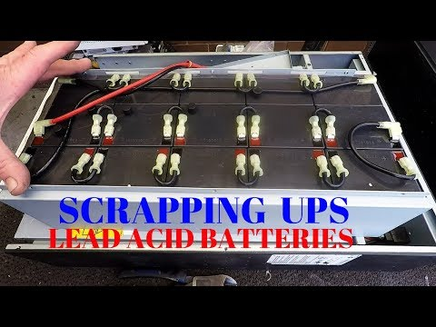 Scrapping UPS for Solar Batteries & Copper