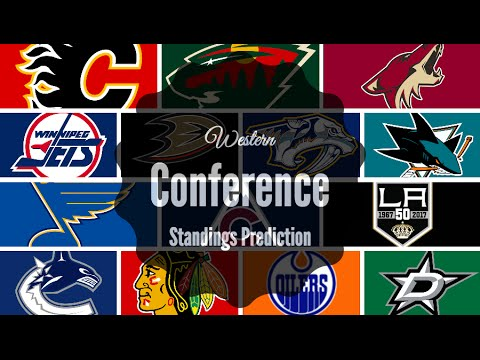 2016-2017 NHL WESTERN CONFERENCE STANDINGS PREDICTION!
