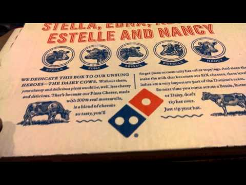 Dominos pizza, bacon, ham, salami