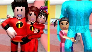TRYING ON FAMILY COSTUMES FOR HALLOWEEN | Bloxburg Family | Roblox Roleplay