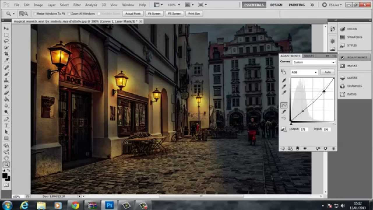 Photoshop tutorial day to night with lighting youtube for Classic house tutorial