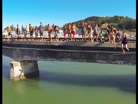 bridge jumping gisborne (dji phantom 2)