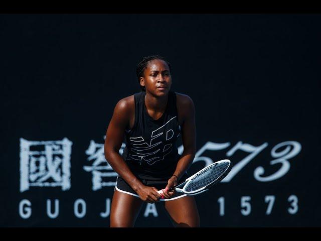 Coco Gauff preps for Venus Williams matchup | 2020 Australian Open Practice: