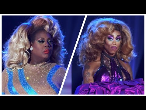 Latrice Royale vs. Monique Heart - Sissy That Walk   RuPaul's Drag Race All Stars 4 LSFYL