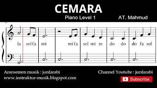 not balok cemara - tutorial piano grade 1 - notasi lagu anak - doremi solmisasi