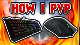 How I Pvp w/ Keyboard % Mousecam (Ranked Skywars)