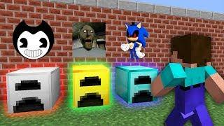 КАКУЮ СТРАШНУЮ ПЕЧКУ ВЫБЕРЕТ НУБ В МАЙНКРАФТ Бенди, Бабушка Гренни и Соник Убийца в Minecraft