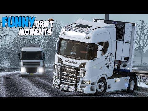 Euro Truck Simulator 2 Multiplayer Funny Moments & Crash Compilation #107 (ETS2MP)