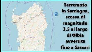 Terremoto In Sardegna, Scossa Di Magnitudo 3 5 Al Largo Di Olbia Avvertita Fino A Sassari