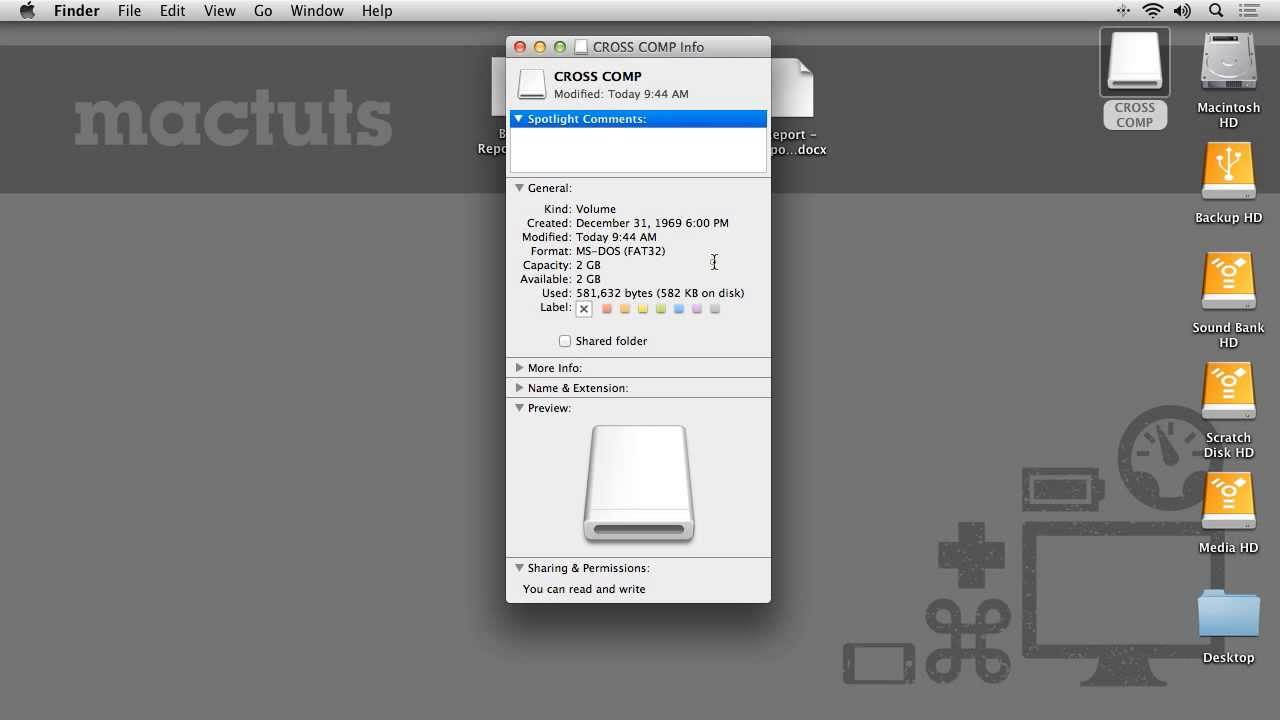 """Quick Tip: Solving """"Read Only"""" External Drive Problems on Your Mac"""