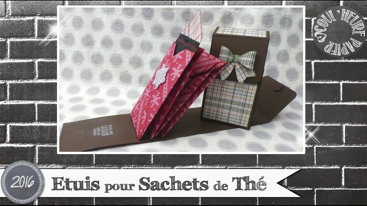 vid o tuto etuis sachets de th par coul 39 heure papier youtube. Black Bedroom Furniture Sets. Home Design Ideas