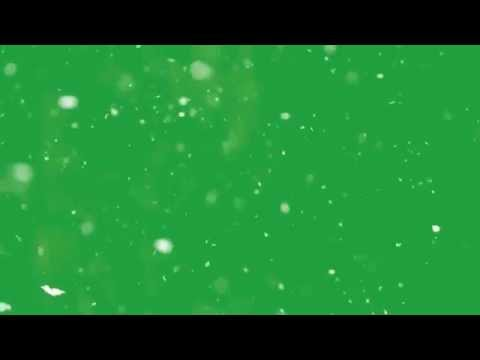 Snow Green Screen Effect (Real Snow)