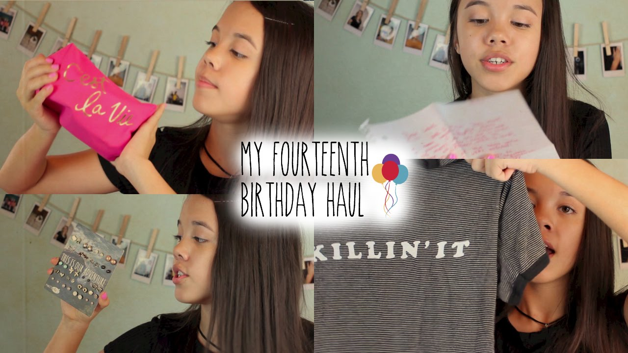 What I Got For My 14th Birthday! ☆ - YouTube