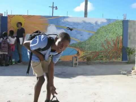 Creating the Mangrove Mural in Barbuda