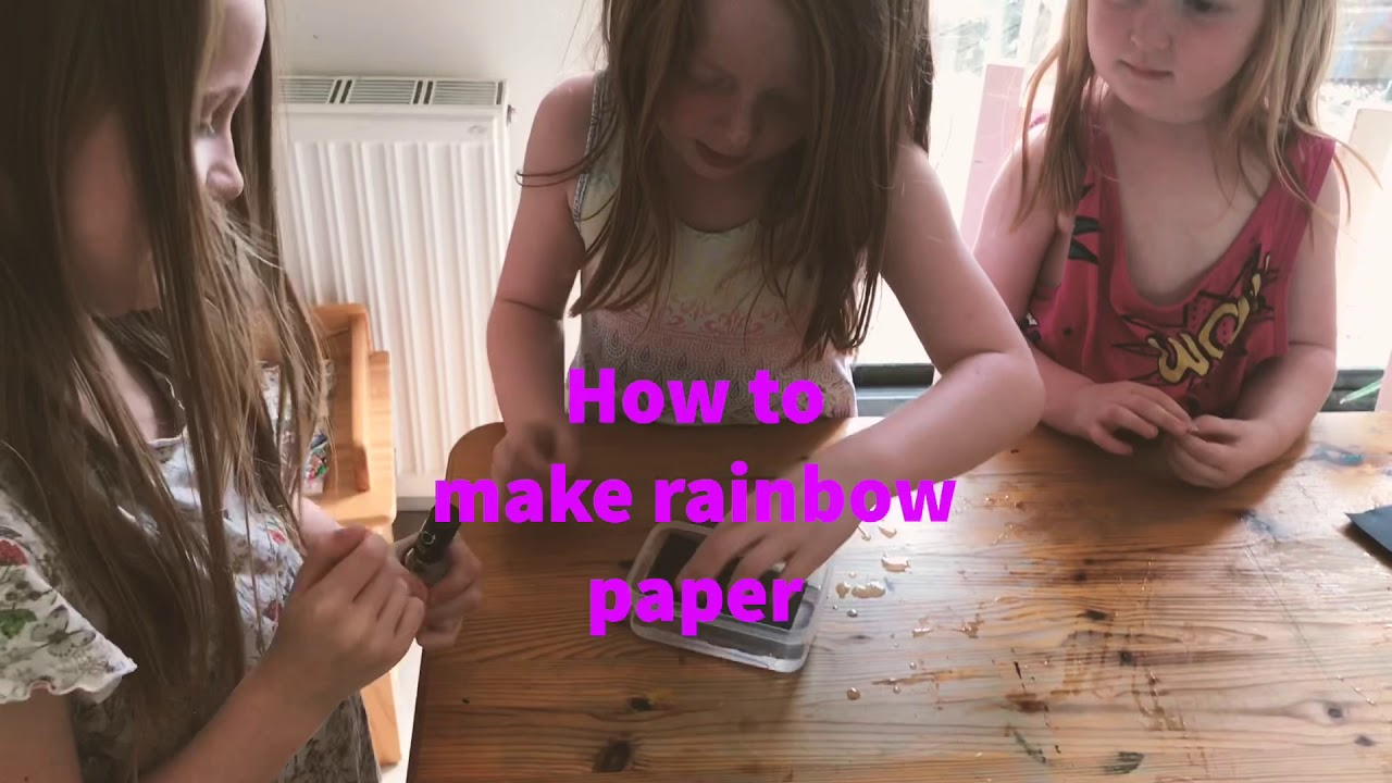 How to make rainbow paper!