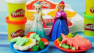 Anna i Elsa Challenge w kuchni | Play Doh Kuchenne Rewolucje & Frozen | Bajki i Kreatywne Zabawki