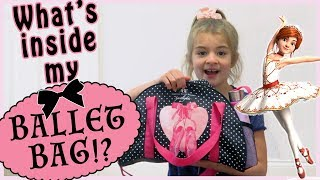 What's Inside My Ballet Bag?   Ispired by Disney's LEAP!