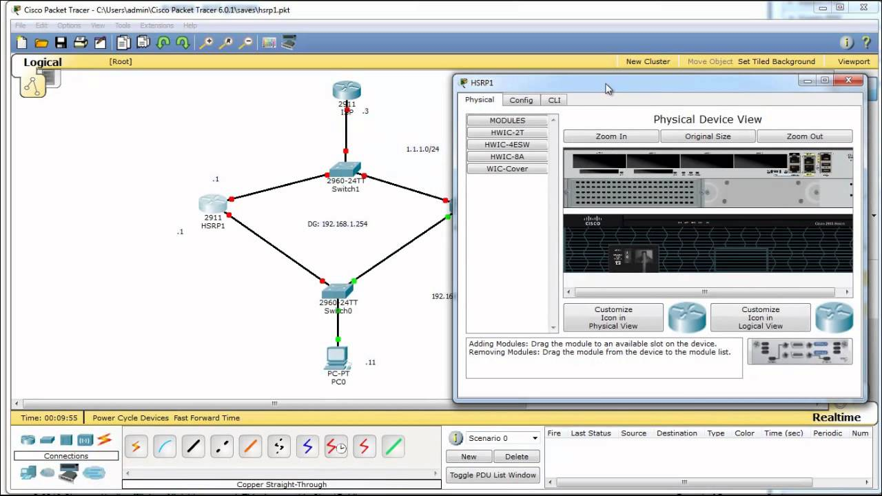 HSRP in Packet Tracer 6 - what's new in Packet Tracer 6