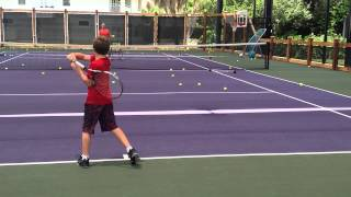 Basic Drill of Forehand and Backhand · 10 and Under