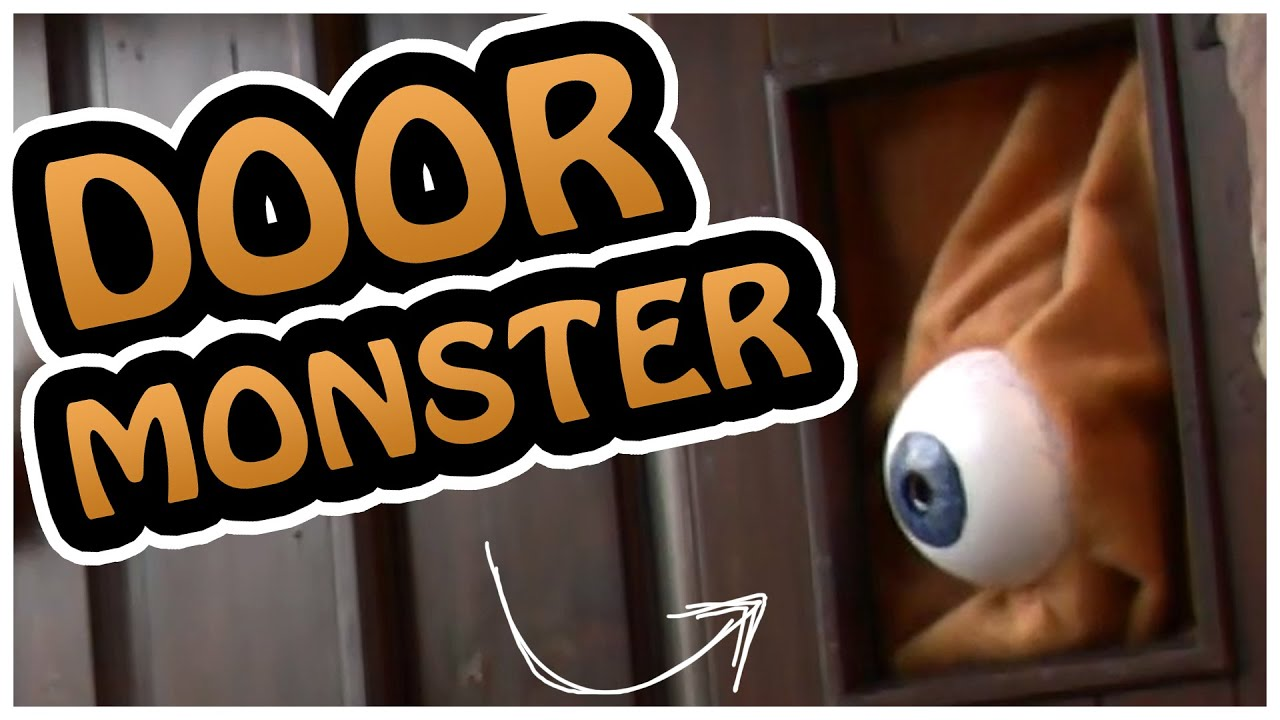 door monster crazy awesome halloween decoration youtube - Creative Halloween Door Decorations