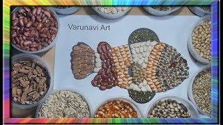 Learn colors for children Nemo | Kolase Ikan Nemo Dengan  Biji bijian | painting Collage for kids