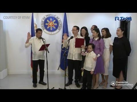 Alan Peter Cayetano takes oath as foreign affairs secretary