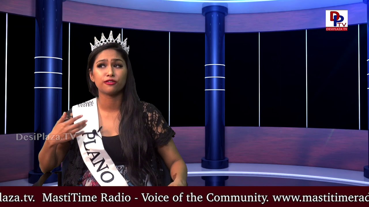 Promo - Interview with 'Miss Plano USA 2018' Nassat Parveen - Host : Madhav || DesiplazaTV