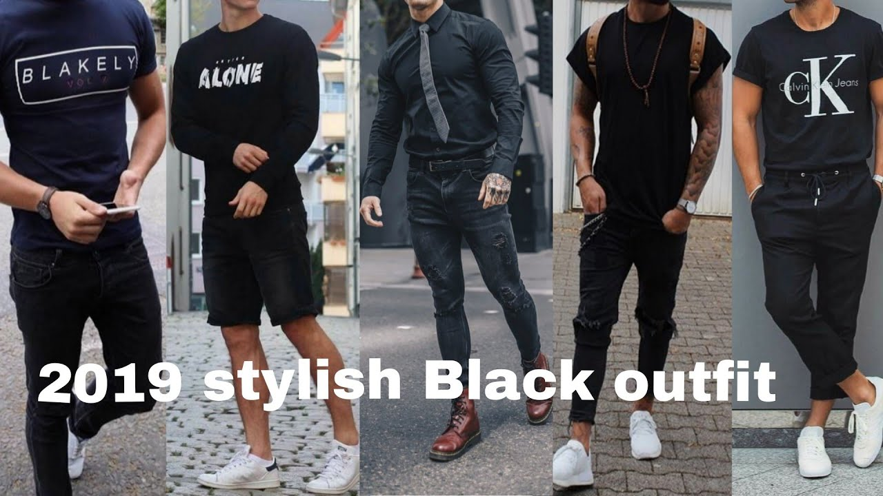 Latest stylish all Black Casual Outfit for Men's 2019 | Men Coolest