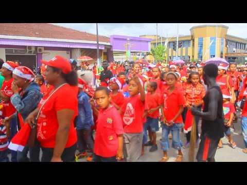 Parade natal , Biak 3 Desember 2016