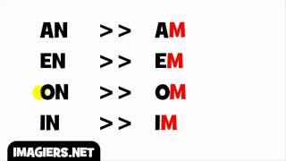 Урок французского языка = Произношение = м вместо N