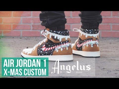 """Winter Wonderland 1's   Air Jordan 1 """"Rookie of the Year""""   Angelus Paint"""