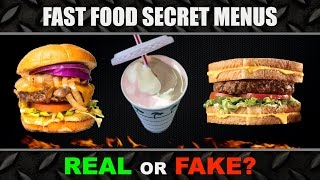 Fast Food SECRET MENU Experiment