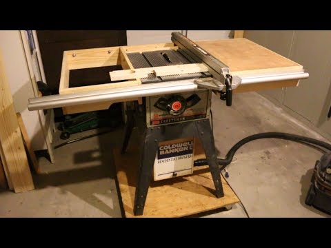 Diy Dust Collector For Older Craftsman Tablesaw Project Youtube