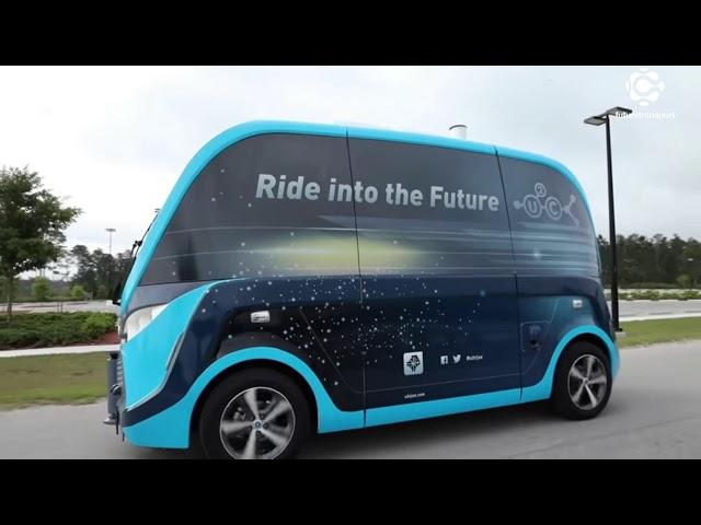 Mini ônibus autônomo transporta testes de coronavírus nos Estados Unidos